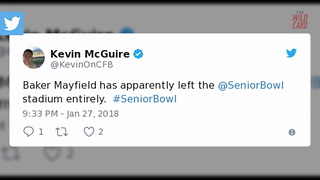 Baker Mayfield Leaves Senior Bowl At Halftime Because Of Family Issue - Video