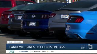 Pandemic brings discounts on cars