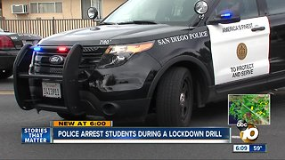 Students arrested during a School lockdown drill - Video