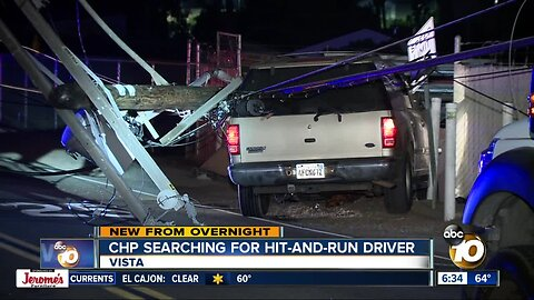 Driver leads chase, takes down power poles