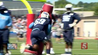 Titans Put The Pads On Monday For Training Camp - Video