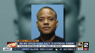 Third Baltimore police officer pleads guilty to extortion, robbery