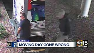 Woman wakes up to find her items stolen from a secured U-Haul truck - Video