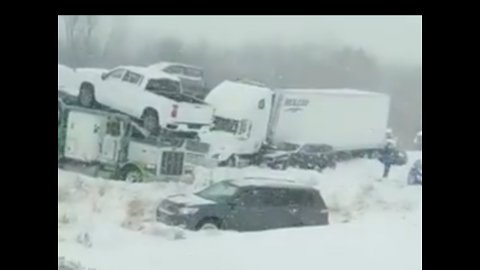 Multiple Injuries Reported in 40-Vehicle Wisconsin Pile-Up