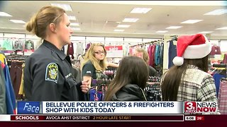 Bellevue Police and firefighters to shop with kids - Video