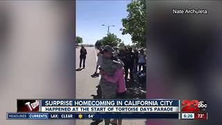 Surprise coming home at California City Tortoise Days Parade - Video