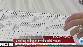 Awaiting ruling on presidential recount - Video