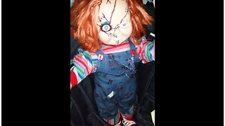 Dad Pranks His Kids With Terrifying Chucky Doll - Video