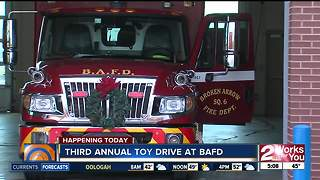 Broken Arrow Fire Department is collecting toys for the holidays