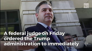 Judge Rules In Favor Of CNN, Acosta, White House Must Return Press Pass - Video