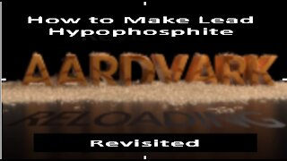 Homemade Primers - How to Make Lead Hypophosphite - Revisited
