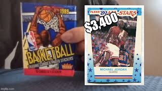 Opening a 1989 Fleer Basketball Wax Pack. Do I Find a Michael Jordan Sticker Worth $3,400??!!