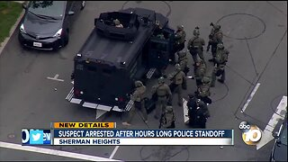 Suspect arrested after hours long police standoff