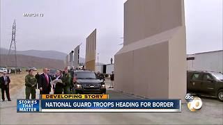 Troops headed to border - Video