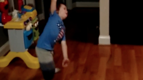 Boy showing off his expressive dance moves to J Lo song