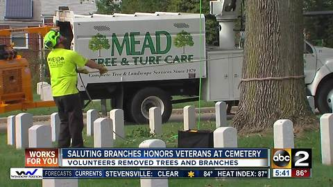 Saluting Branches honors veterans at cemetery