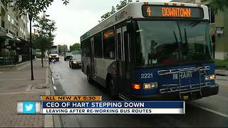 Hillsborough County's bus system CEO steps down from position - Video