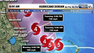 Dorian expanded 8 a.m. Monday update
