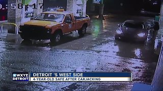 Suspect arrested after stealing car with toddler inside from Detroit gas station