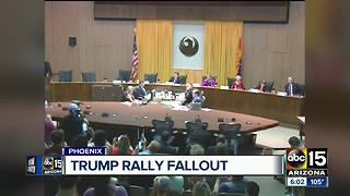 Tensions flare at Phoenix council meeting over Trump rally fallout