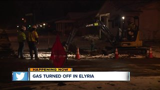 Crews work throughout the morning to turn gas back on in Elyria - Video