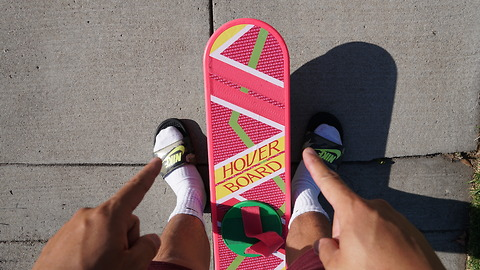 Riding real-life Back to the future hoverboard