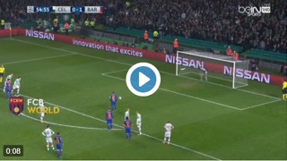 Messi scored the 2nd goal vs Celtic - Video