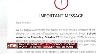Schools deal with the aftermath of the Oakland County water main break - Video
