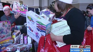 Families benefit from Salvation Army - Video