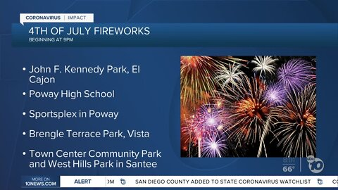 San Diego County still holds a handful of fireworks shows