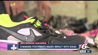Maureen Leisure received this month's Jefferson Award as one of the leaders of Changing Footprints - Video