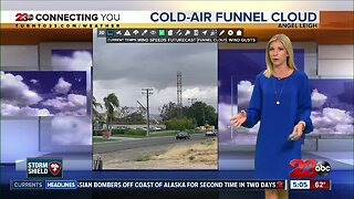 Bakersfield cold-air funnel cloud