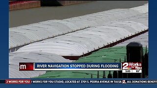 River navigation stopped during flooding