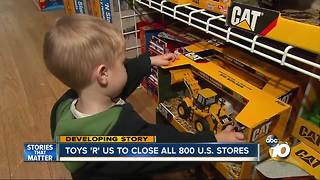 Toys 'R' Us to close all 800 U.S. stores - Video