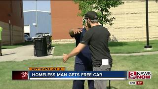 Homeless man gifted a free car - Video