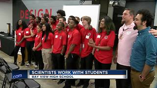 Scientists work side-by-side with students at Bay View High School - Video