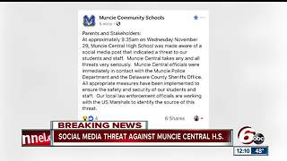 Social media threat prompts increased police presence at Muncie Central High School - Video