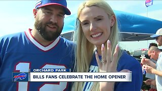 She said yes: Bills fans get engaged at home opener