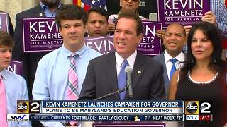 Kevin Kamentz launches campaign for Governor - Video