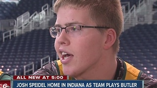 Josh Speidel returns home to Indiana with Vermont basketball team - Video
