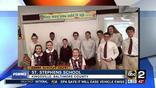 St. Stephen School says good morning, Maryland! - Video