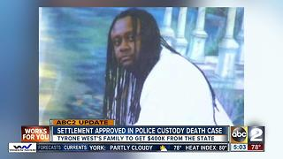 Settlement approved in Tyrone West death lawsuit - Video