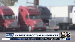 Truck driver shortage adding to rising food costs