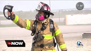 PBC Fire Rescue study detected carcinogens up to 100 feet away from a structure fire - Video