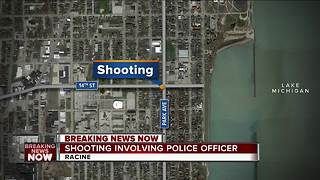 Shooting involving police officer in Racine - Video