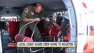 Local Coast Guard members ready to help with Hurricane Harvey relief efforts - Video