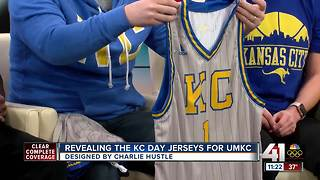 Charlie Hustle reveals throwback UMKC basketball jerseys - Video