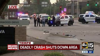 Driver arrested after fleeing deadly crash in Tempe