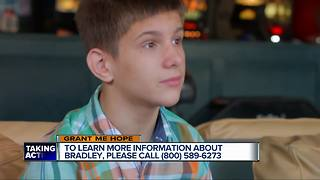 Grant Me Hope: Bradley enjoys computers, swimming, video games & Legos - Video