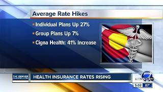 Health insurance rates rising in Colorado